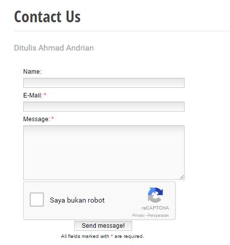 cara membuat tampilan contact us