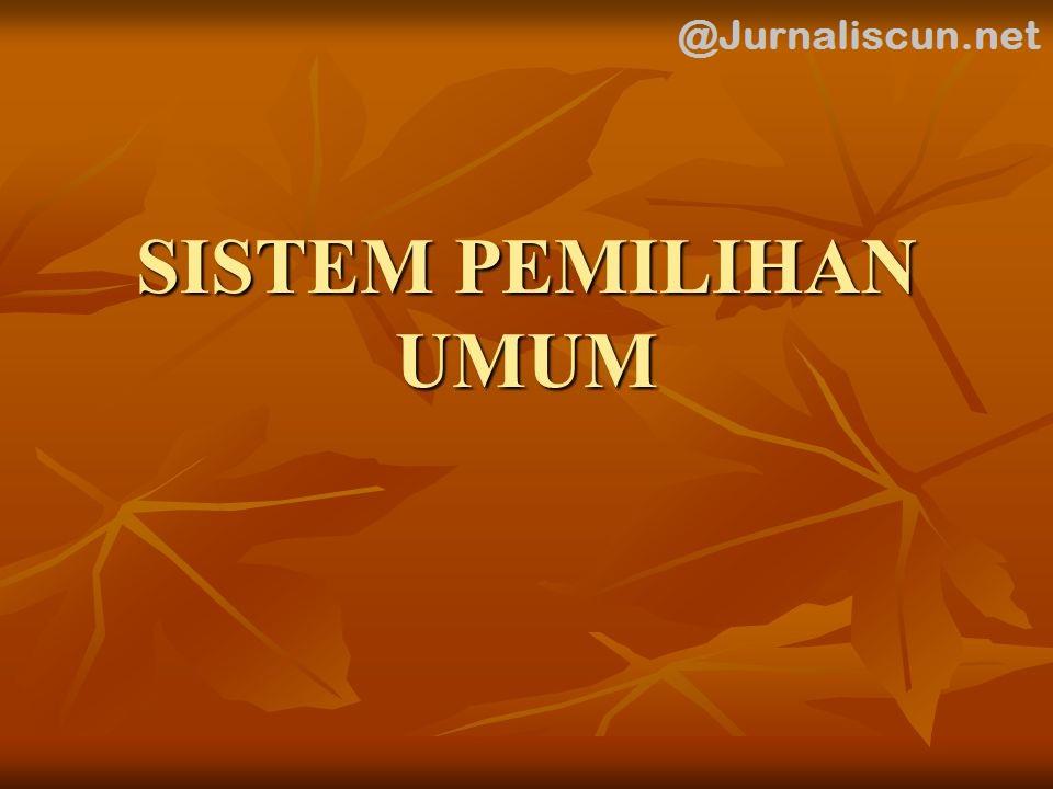 sistem pemilihan umum