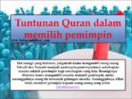 karakter pemimpin ideal dalam islam