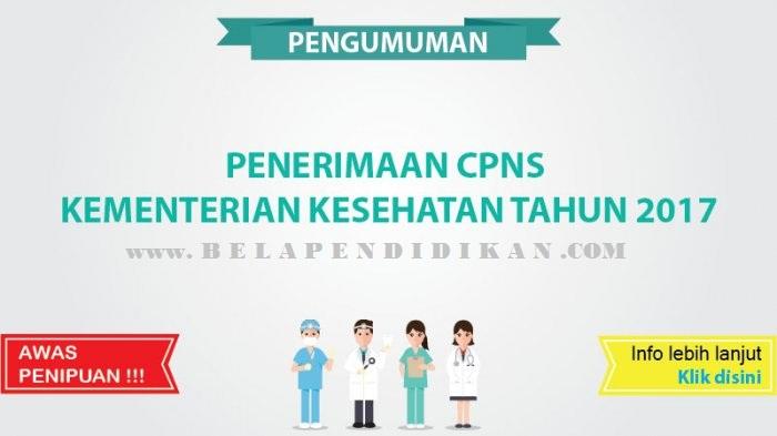 penerimaan cpns kementerian kesehatan 2017 Republik Indonesia