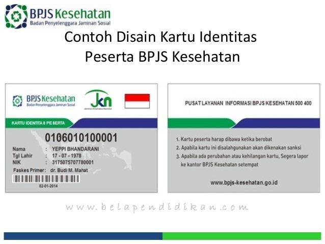 Contoh kartu peserta BPJS Kesehatan