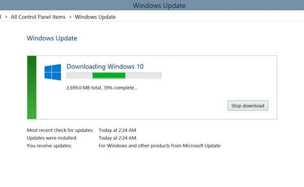 langkah download windows 10