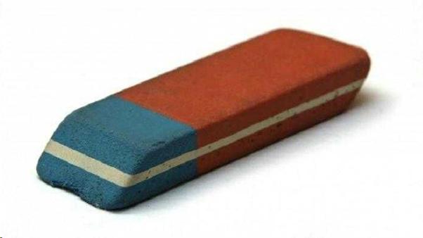 Warna biru dibagian penghapus pensil