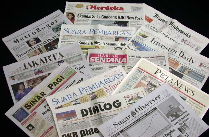 Media cetak sebagai aktor politik