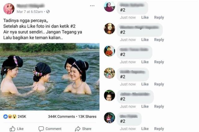 Contoh penyebaran hoax di salah satu sosial media