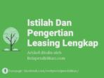 Istilah dan pengertian leasing