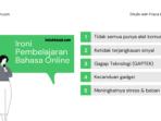 ironi pembelajaran bahasa online