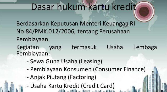 Dasar hukum kartu kredit